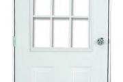 Steel Entry Door - 9 Lite Window