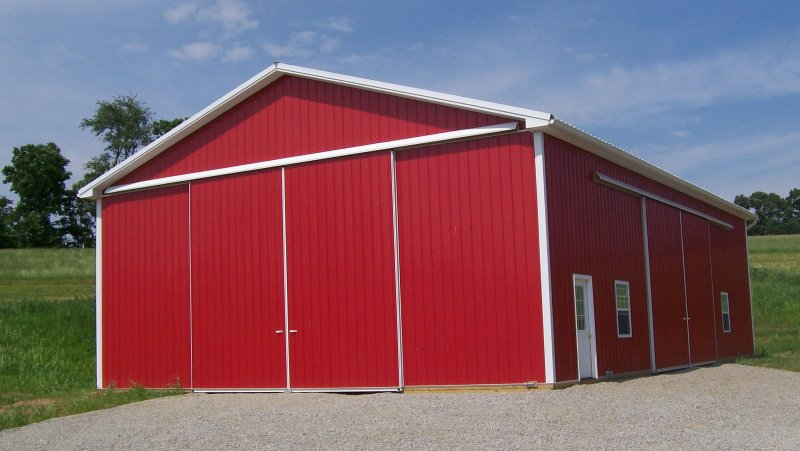40 X 60 16 Post Frame Equipment Shed