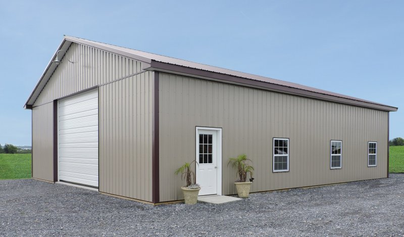 40' x 48' x 12' Post-Frame Equipment Shed