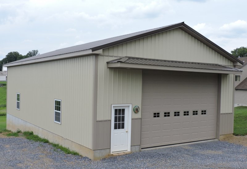 30' x 52' x 14' Stick-Frame Storage Building