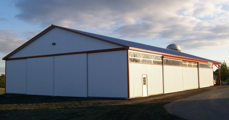 60' x 120' x 14' Equipment Shed with a 20' Lean-Too on (1) side