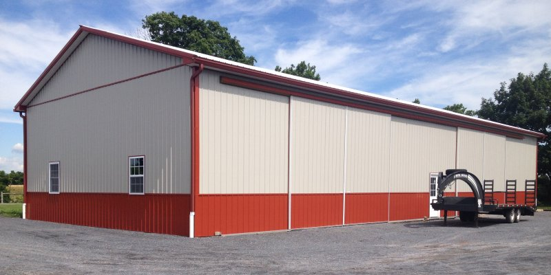 40' x 92' x 16' Post-Frame Equipment Shed