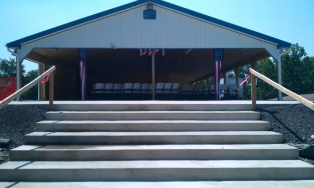 "14"" x 20' Concrete Steps to Pavilion"