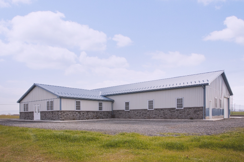 130' x 50' Commercial Building with 30' x 40' Office